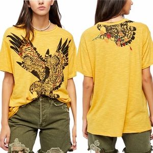 Free People Soak up the sun t-shirt eagle